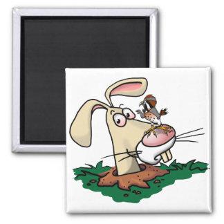 Kestrel and Rabbit Magnet