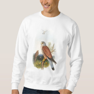 Kestrel Falcon John Gould Birds of Great Britain Sweatshirt