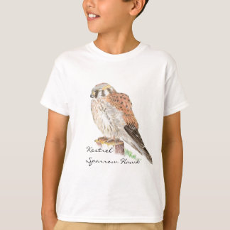 Kestrel Sparrow Hawk, Watercolor Bird T-Shirt