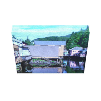 Ketchikan Alaska Creekside View Landscape Canvas Print