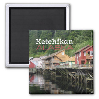Ketchikan Alaska Travel Souvenir Fridge Magnets
