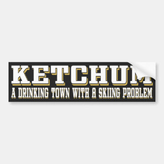 Ketchum Drinking & Skiing Bumper Sticker