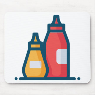 Ketchup and Mustard Mouse Pad