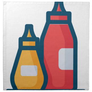 Ketchup and Mustard Napkin