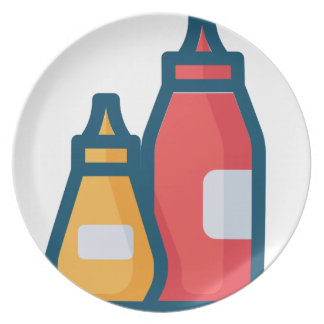 Ketchup and Mustard Plate