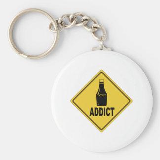 Ketchup Basic Round Button Key Ring