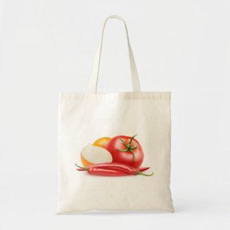 Ketchup ingredients tote bag