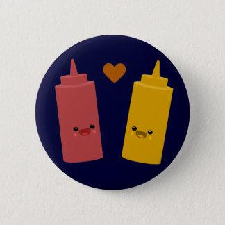 Ketchup & Mustard Friends 6 Cm Round Badge