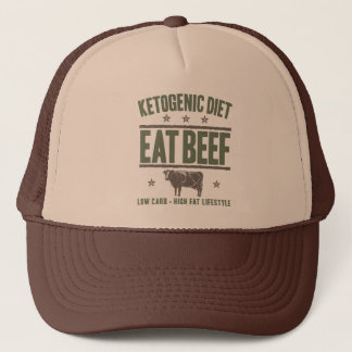 KETOGENIC DIET: Eat Beef - High Fat Life, Camo Cow Trucker Hat