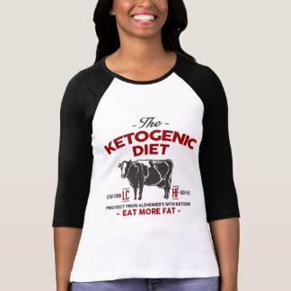 KETOGENIC DIET: Eat Keto Aid Alzheimer's, Red Cow T-Shirt