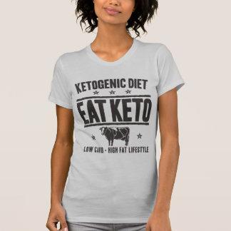 KETOGENIC DIET: Eat Keto - Eat Low Carb, Onyx Cow T-Shirt