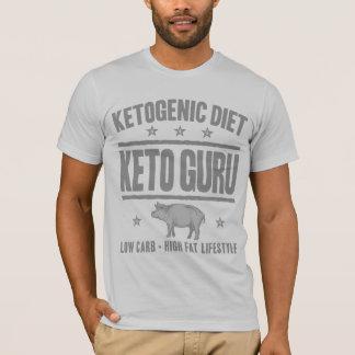KETOGENIC DIET: Keto Guru Cut Out Sugar, Gray Pig T-Shirt