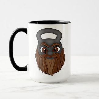 Kettle bell character (The Beard mug) Mug
