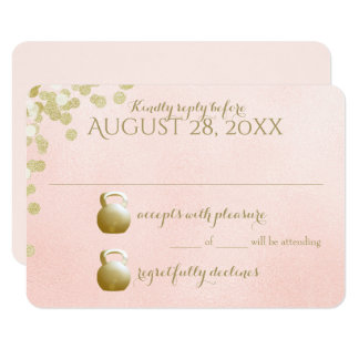 Kettle Bells and Sparkle Wedding Response Card
