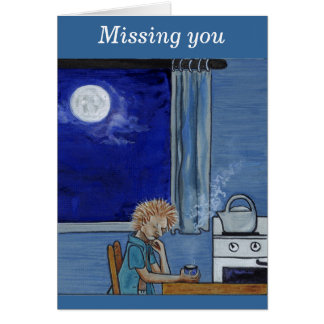 Kettle steam blues - missing you greeting cards