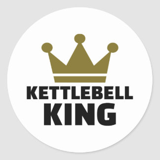 Kettlebell king classic round sticker