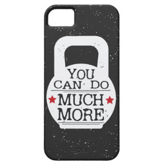 Kettlebell Print - You Can Do Much More iPhone 5 Covers