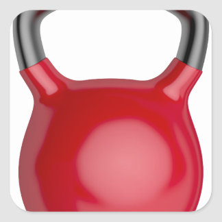 Kettlebell Square Sticker