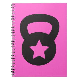 Kettlebell With An Empty Star Notebook