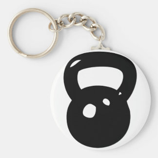 Kettlebell Workout Basic Round Button Key Ring
