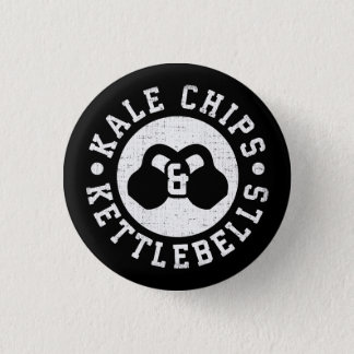 Kettlebells and Kale Chips - Funny Novelty Workout 3 Cm Round Badge