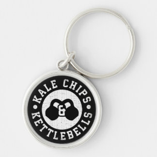Kettlebells and Kale Chips - Funny Novelty Workout Key Ring