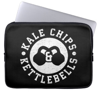 Kettlebells and Kale Chips - Funny Novelty Workout Laptop Sleeve