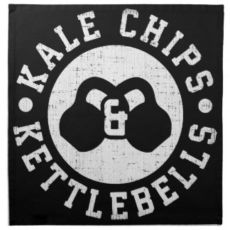 Kettlebells and Kale Chips - Funny Novelty Workout Napkin