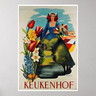 Keukenhof Holland Vintage Travel Poster