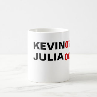 KEVIN 07 JULIA 007 BASIC WHITE MUG