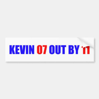 Kevin 07 out by 11 Bumper Sticker