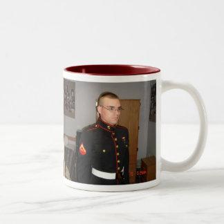 Kevin and the marine corps band MEFIII Two-Tone Mug