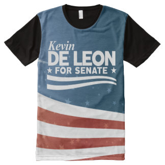 Kevin de Leon for Senate All-Over Print T-Shirt