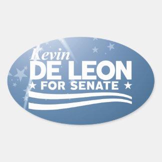 Kevin de Leon for Senate Oval Sticker