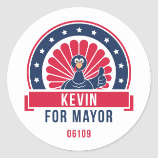 Kevin for Mayor 06109 Sticker