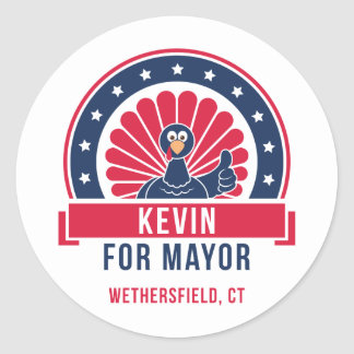 Kevin for Mayor of Wethersfield Sticker