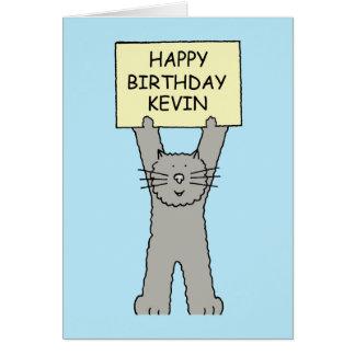 Kevin Happy Birthday Cat Greeting Card