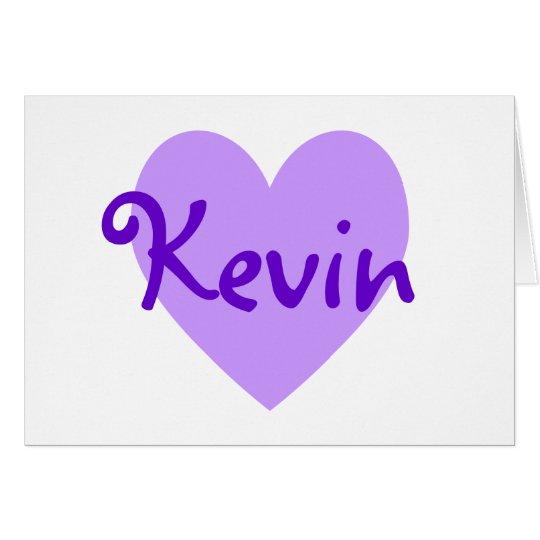 Kevin in Purple Card