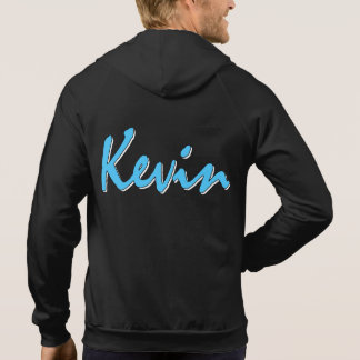 Kevin Logo On Rear Black Hoodie Sweatshirt