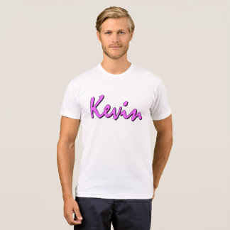 Kevin Pink Logo on Crew neck T shirt