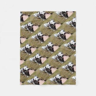 Kevin the Dalmatian Fleece Blanket