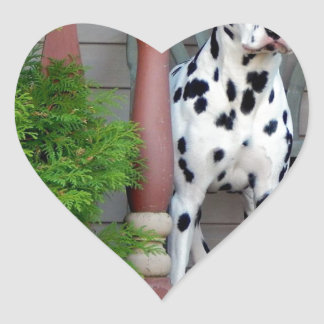 Kevin the Dalmatian Heart Sticker