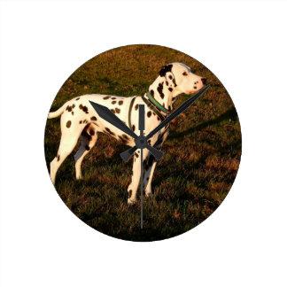 Kevin the Dalmatian Round Clock