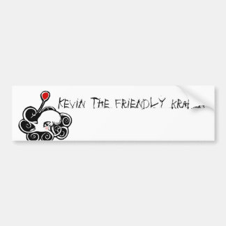 Kevin the friendly kraken bumper sticker