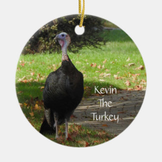Kevin The Turkey - Old Wethersfield , CT (2 Sides) Ceramic Ornament