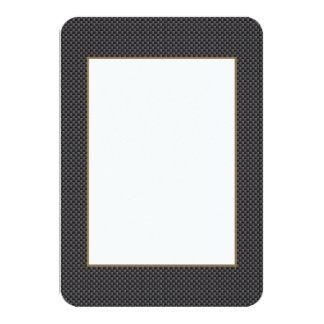 "Kevlar Carbon Fiber Material 3.5"" X 5"" Invitation Card"
