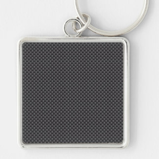 Kevlar Carbon Fiber Material Silver-Colored Square Key Ring