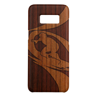 Kewalos Hawaiian Surfer Faux Koa Wood Case-Mate Samsung Galaxy S8 Case
