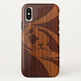 Kewalos Hawaiian Surfer Faux Wood iPhone X Case
