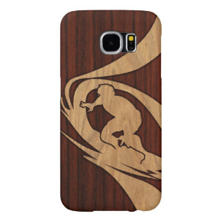 Kewalos Hawaiian Surfer Faux Wood Samsung Galaxy S6 Cases
